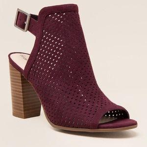 Francesca's Elaine Perforated Peep Toe Heel